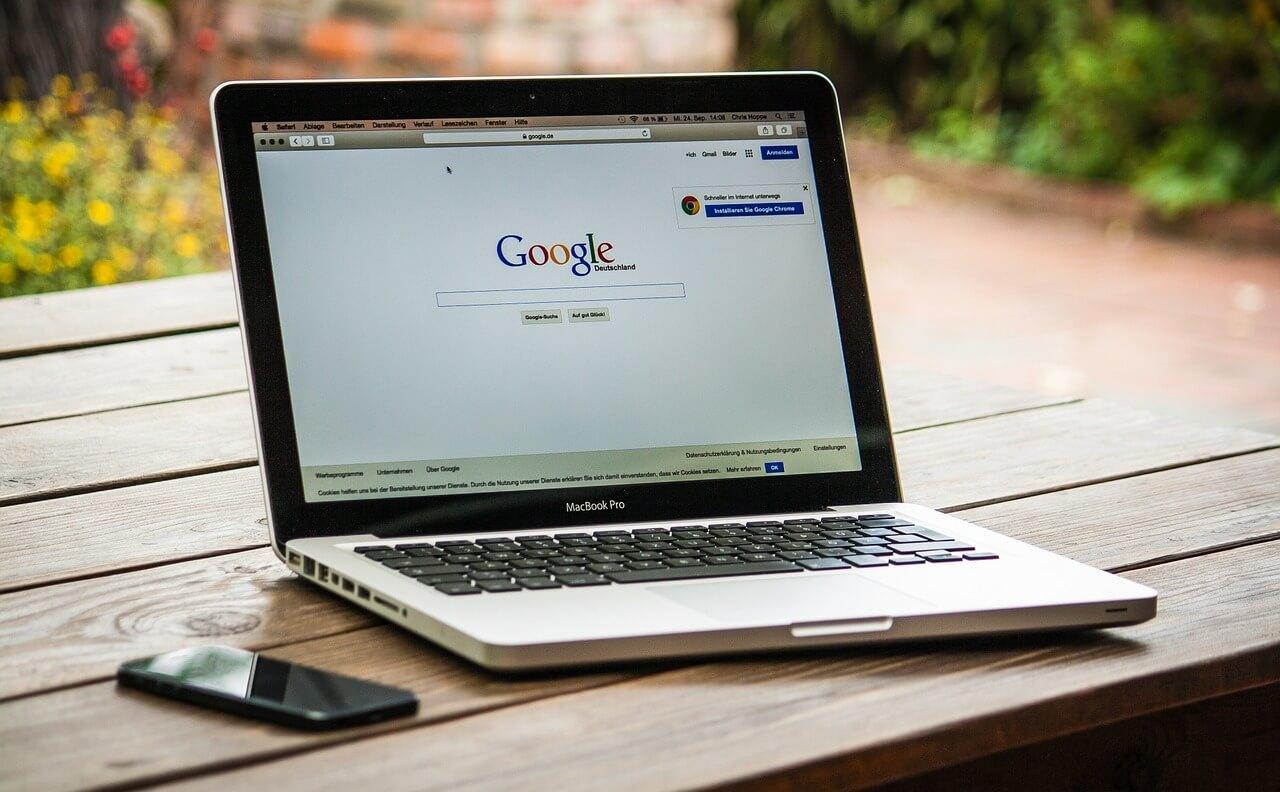 google search on a mac