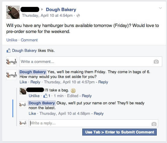 social media customer service facebook needs buns