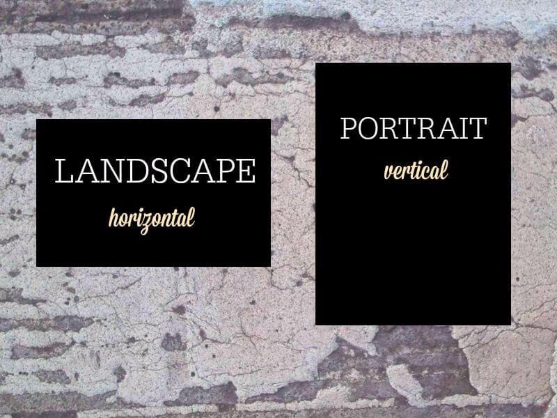 new instagram formats landscape and portrait