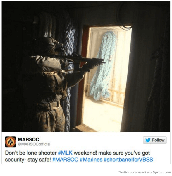 lone gunman inappropriate social media post