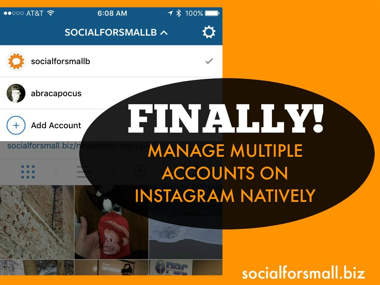 manage multiple accounts on instagram natively